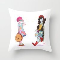 Bubblegum and Marceline Throw Pillow