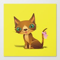 The Great Gold Meow Canvas Print