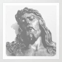 jesus Art Prints featuring Jesus by Geni