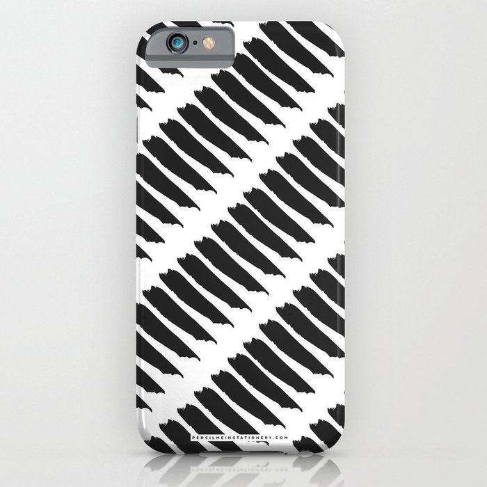 Black and white tiger stripes iphone ipod case by pencil - Tiger stripes black and white ...