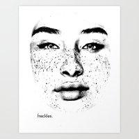 Freckles. Art Print