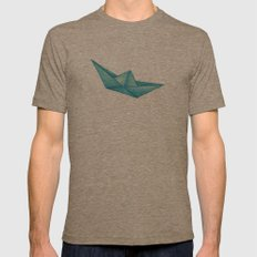 High Seas | Origami | Simplified Mens Fitted Tee Tri-Coffee SMALL
