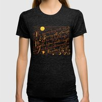 The Walrus and the Carpenter, Stanza 1 Womens Fitted Tee Tri-Black SMALL