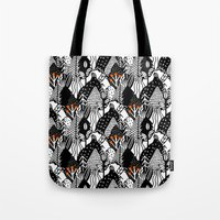 In the forest_B&W Tote Bag