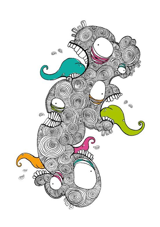 Monster Men Art Print