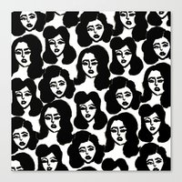 Retro Girls Canvas Print