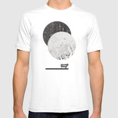 Calculating a Jump over the Moon White SMALL Mens Fitted Tee