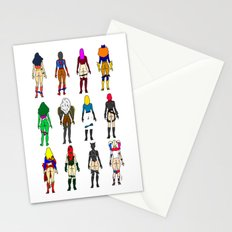 Superheroine Butts Stationery Cards
