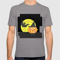 Funny Half Smile Pumpkin… Mens Fitted Tee Tri-Grey SMALL