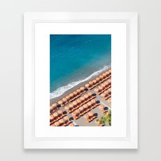 POSITANO UMBRELLAS Framed Art Print