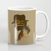 Don't call me Junior! – Indiana Jones Silhouette Quote Mug