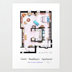 Carrie Bradshaw apartment from Sex and the City v2 Art Print