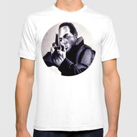 Peter Washington Mens Fitted Tee White SMALL