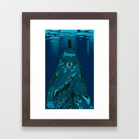 Ponyo On The Cliff By Th… Framed Art Print