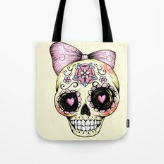 Sugar Skull (Yellow) Tote Bag