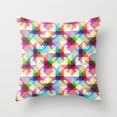 Abstract blocks pattern Throw Pillow