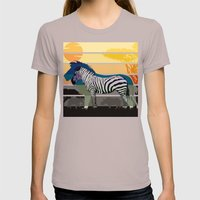 Sunset in Savanna Womens Fitted Tee Cinder SMALL