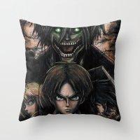 Attack On Titan  Shingek… Throw Pillow