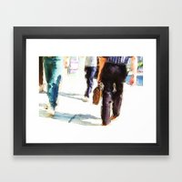 City Strides Framed Art Print