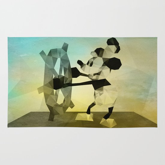 Mickey Mouse as Steamboat Willie Area & Throw Rug