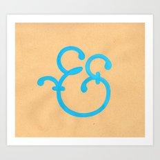 Handmade Ampersand  Art Print