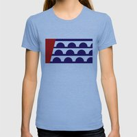 Des Moines City Flag Uni… Womens Fitted Tee Athletic Blue SMALL