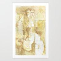 two headed Art Print