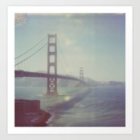 Golden Gate - Polaroid Art Print