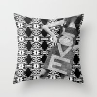 LOVE Implosion #9 Throw Pillow