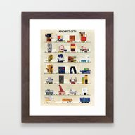 Archist City Framed Art Print