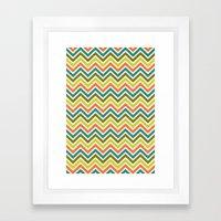 Citronique Series: Chevron Grand Sorbet Framed Art Print