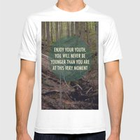 Enjoy Your Youth Mens Fitted Tee White SMALL
