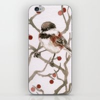 Chickadee & Berries iPhone & iPod Skin