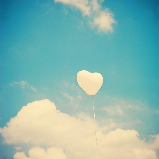 Magic Love, Heart Baloon in the Sky  Art Print