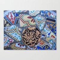 Gaudi, Parc Guell Canvas Print