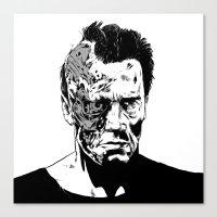 Terminator (b/w) Canvas Print