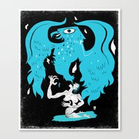 Rebirth (Blue) Canvas Print