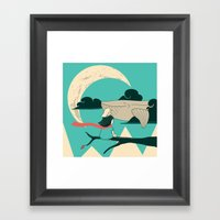 Did You See The Whale In… Framed Art Print