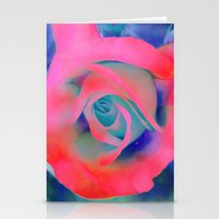 Fluro Rose Stationery Cards