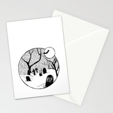 Halloween graveyard Stationery Cards