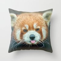 PANDA-RING TO ONE'S TASTE Throw Pillow