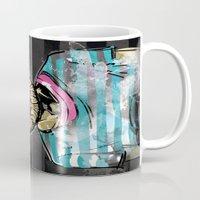Hipster Lion on Black Mug