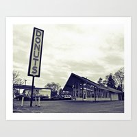 Art Print featuring Classic donuts shop by Vorona Photography