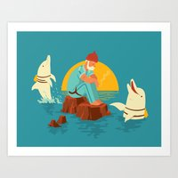 Sonnofabitch, I'm sick of these dolphins Art Print
