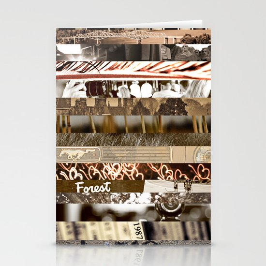 Brown Intersections Stationery Card