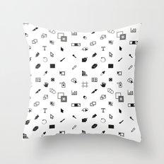 Illustrated icon  Throw Pillow