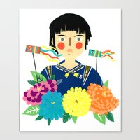 Flower Kite Canvas Print