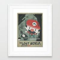 mario bros 4 fan art Framed Art Print