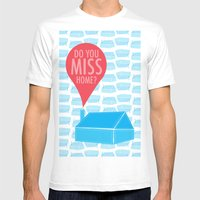 Do You Miss Home Mens Fitted Tee White SMALL