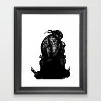 Leonardo Black And White Framed Art Print